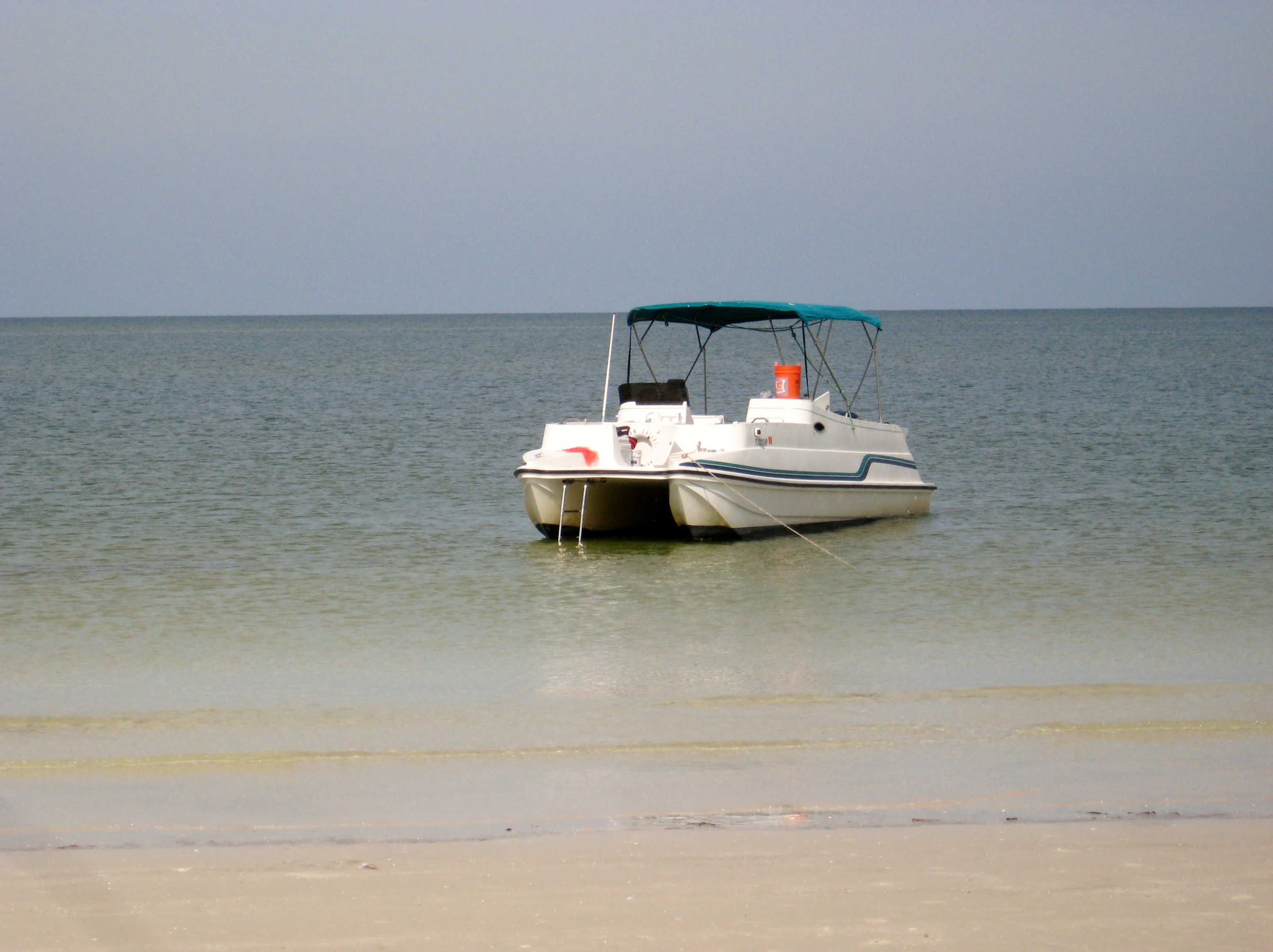 anchored on the three rooker bar barrier island off dunedin fl