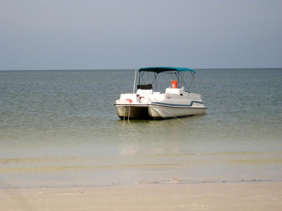 anchored on the three rooker bar barrier island off dunedin fl