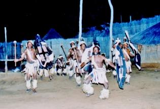 dancers at victoria falls