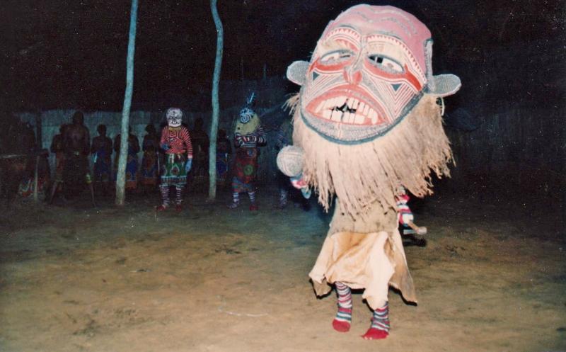 traditional dancers at victoria falls