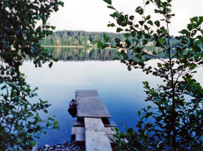 enjoying a peaceful evening at the lake