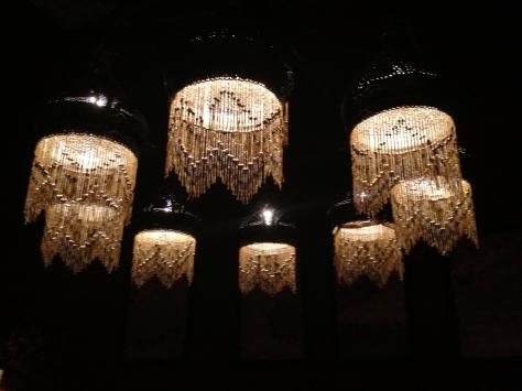 Lightning lamps in Egyptian restaurant Cairo