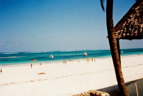 indian ocean beach mombasa kenya