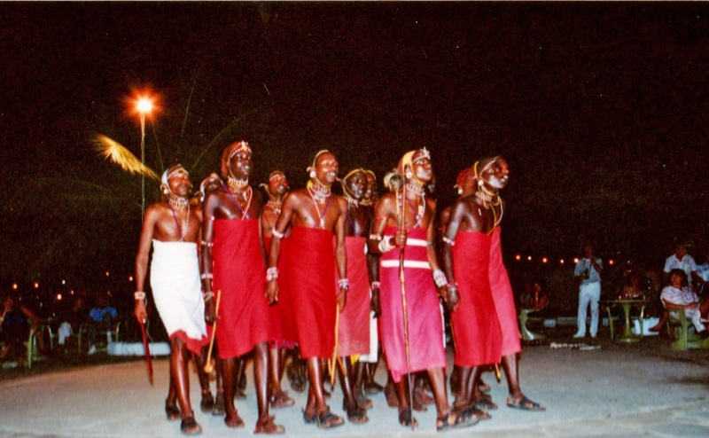 masai dancers in mombasa kenya