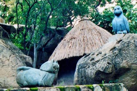 Zim sculpture garden cat ed