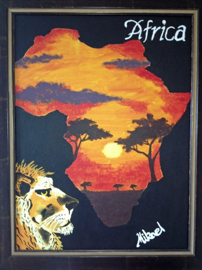 Africa painting by Mike