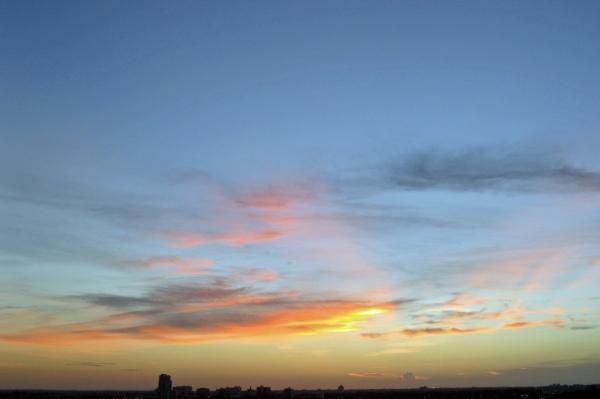 sun rising edt