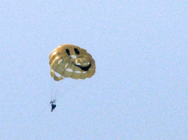 Parasailing is fun!