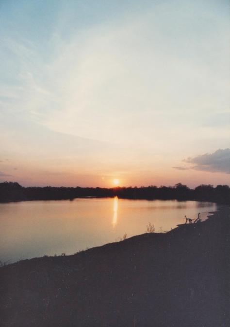 Luangwa river Zambia sunset