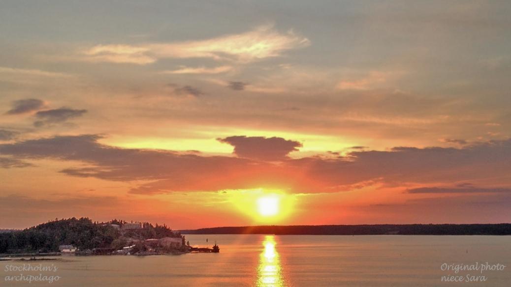 Sunset in Stockholms archipelago