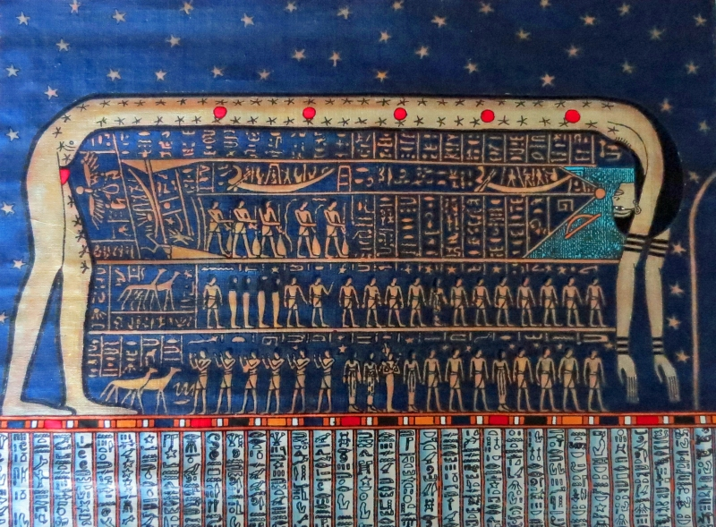 Egyptian papyrus art