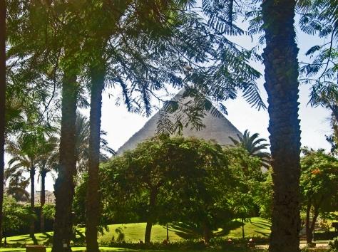 Giza pyramid from Mena House L