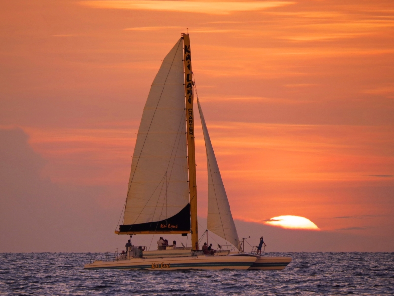 sailboat at sunset c