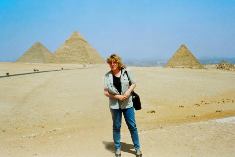 at the pyramids