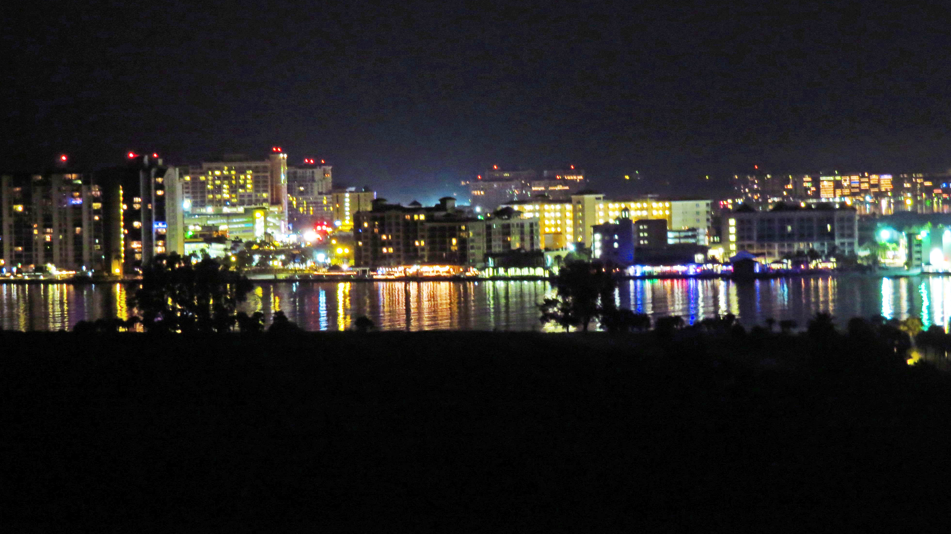 clearwater beach at night