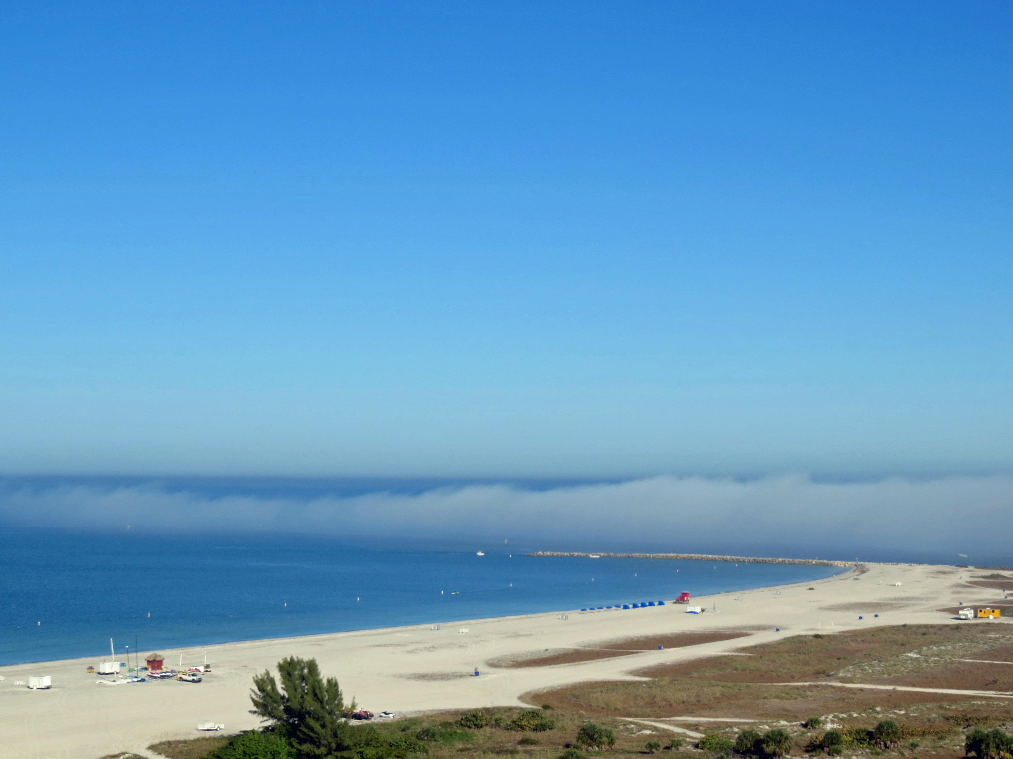 fog on the ocean gulf coast sand key clearwater