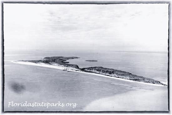 Honeymoon Island aerial in 1940s