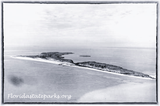 Honeymoon Island aerial in 1940s