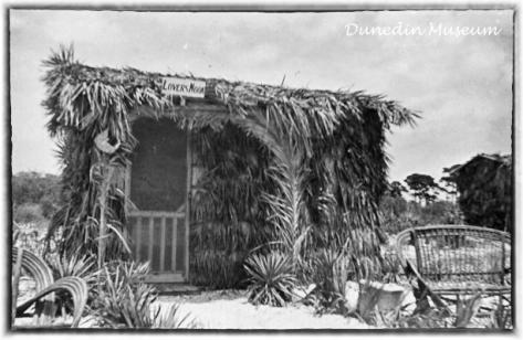 lovers nook hut on honeymoon island 1940s