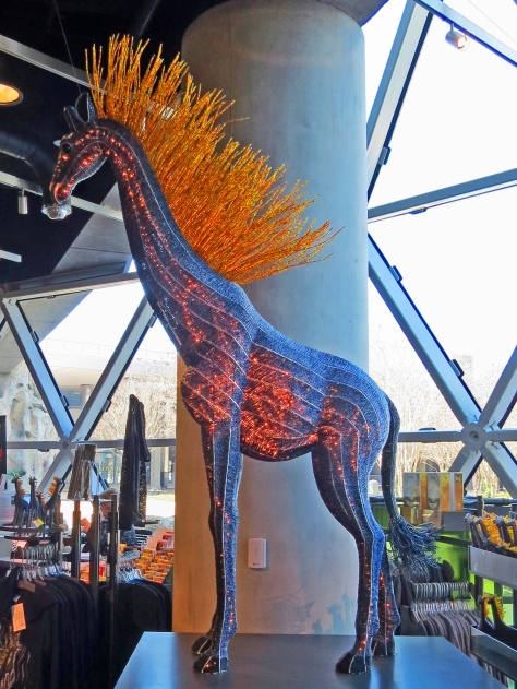 """The """"Fire Horse"""" in the Dali Museum lobby"""