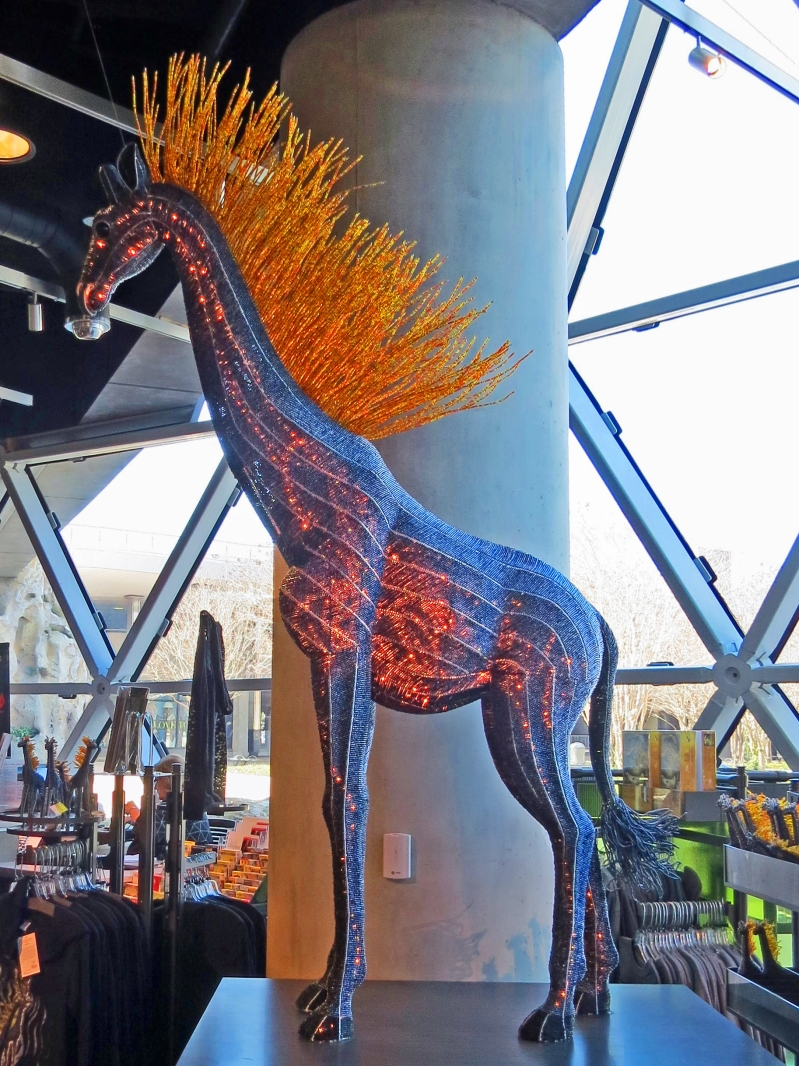 "The ""Fire Horse"" in the Dali Museum lobby"
