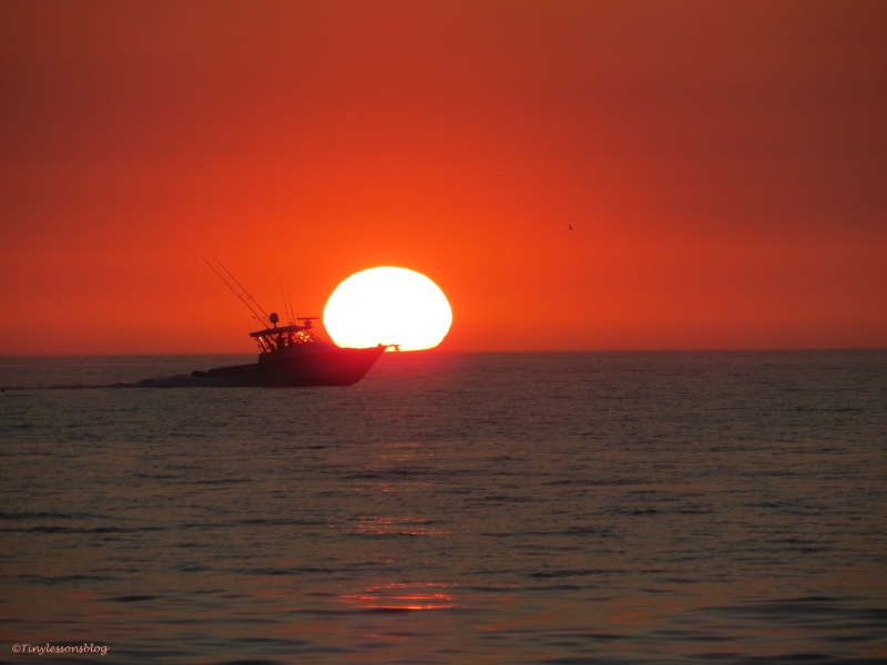 boat at sunset sand key beach clearwater florida