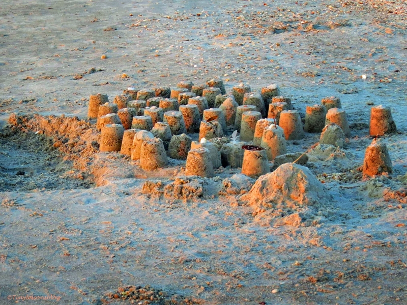 sand caste at sunset sand key beach clearwater Florida