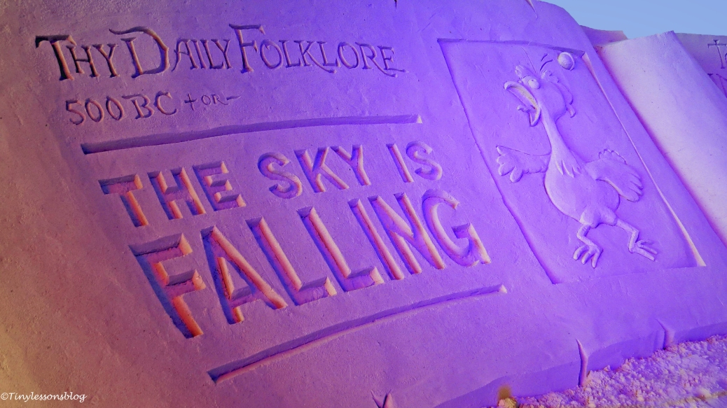 the sky is falling sand