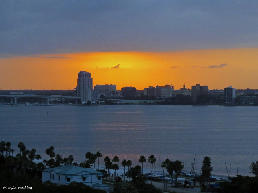 sunrise over the clearwater bay Florida