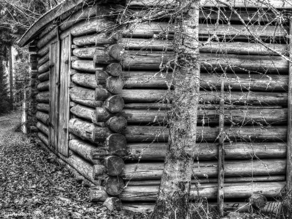 old barn in Finland monochrome