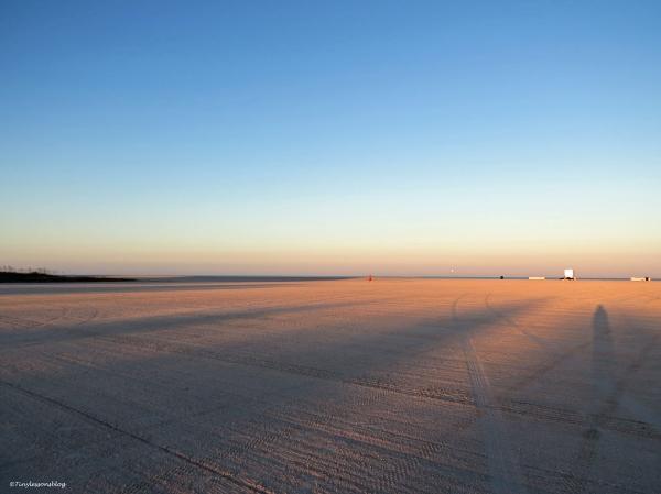beach sunrise half and half