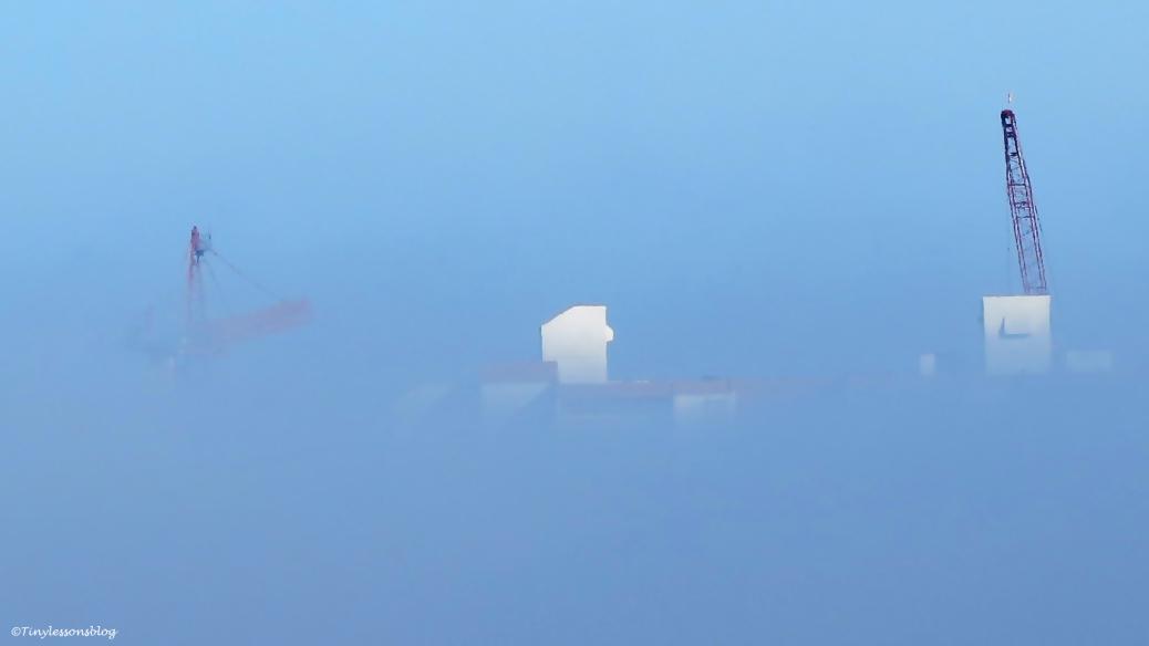 half fog half sky over clearwater beach