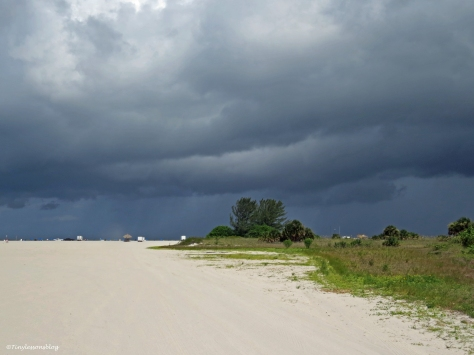 storm is brewing on the ocean Sand Key Clearwater Florida