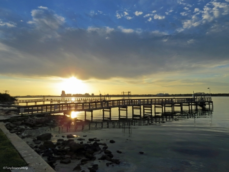 sunrise on the bay at the sailing center sand key clearwater Florida