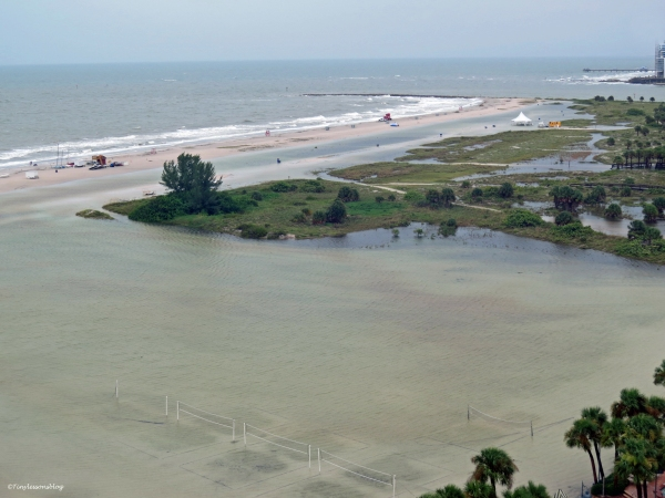 beach and park flooding after the storms sand key clearwater florida