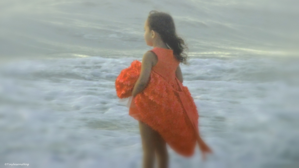 girl on the beach in a dream