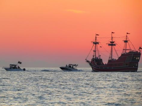 boats at sunset halloween sand key