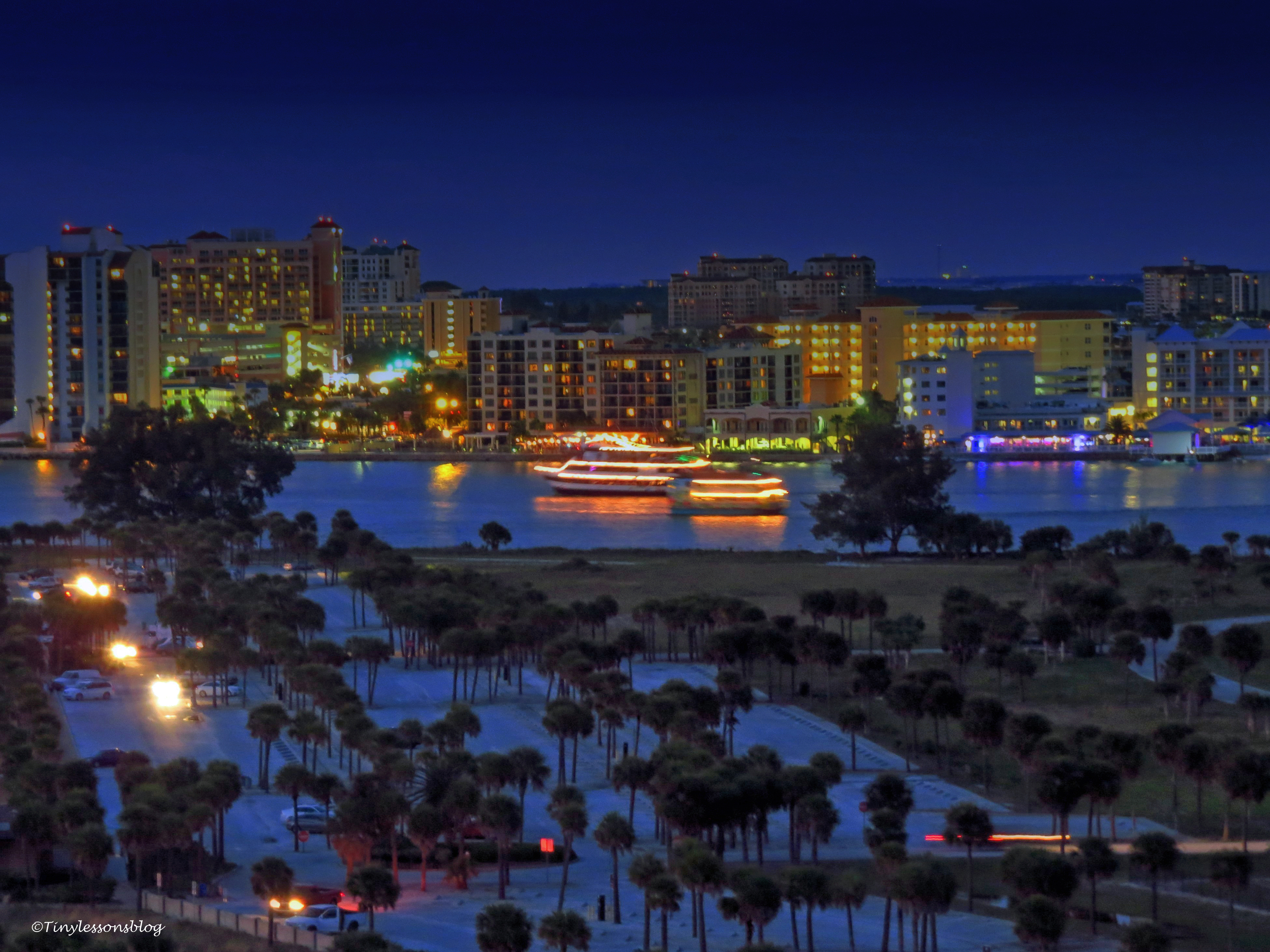 clearwater pass and the sand key park at blue hour