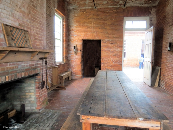 dining room at fort clinch