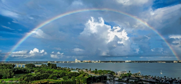 rainbow over clearwater bay ud68  panorama