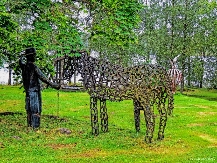 man and a horse Leporanta Finland Aug16 UD75