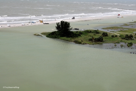 flooded lake on the beach from Hermine UD77