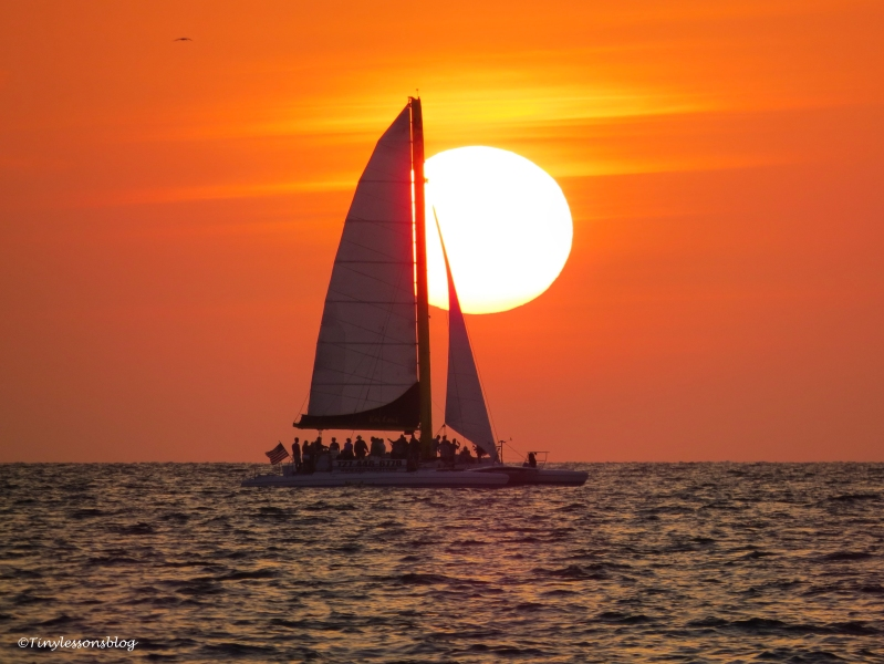 catamaran at sunset April 18 ud121