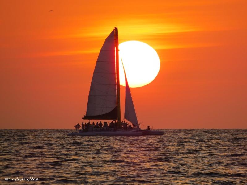 catamaran at sunset April 18 ud121