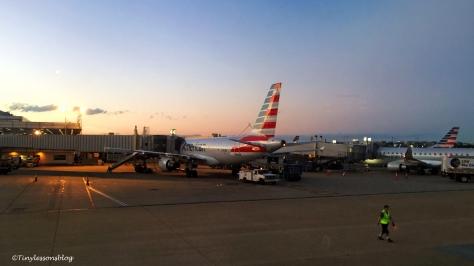 reagan airport at sunset ud116