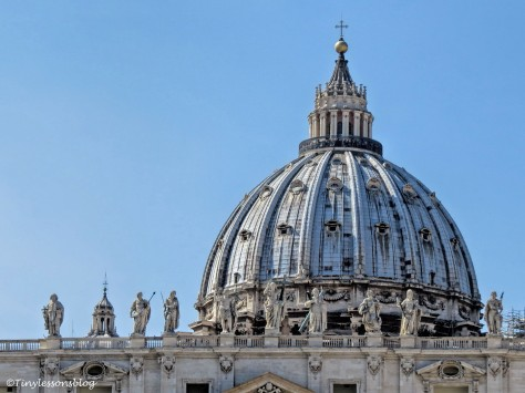 approaching st Peters Basilica Vatican Rome