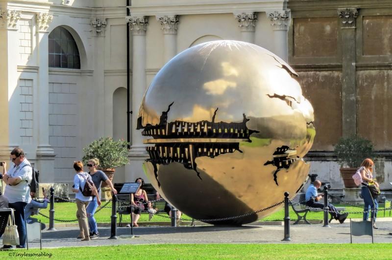 arnoldo pomodoro Sphere within Sphere Vatican Museum Rome