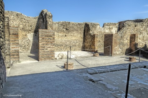 Atrium of the most recently opened house Pompeii