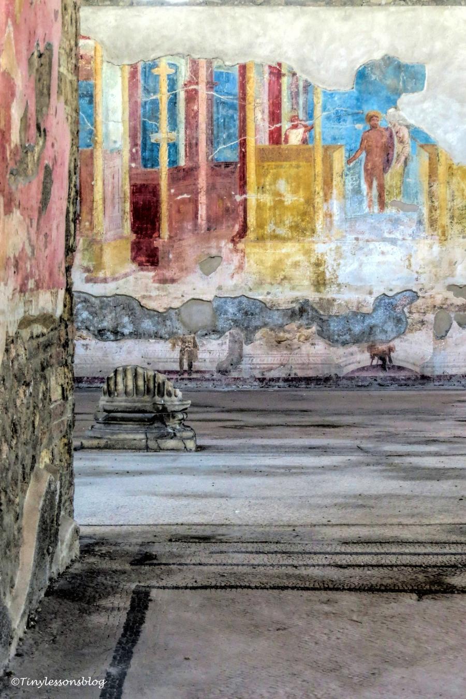 bath house frescos Pompeii
