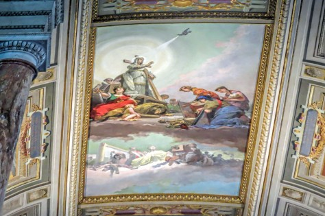 ceiling painting at sistine chappel Vatican Rome